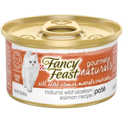 Fancy Feast Gourmet Naturals Wild Alaskan Salmon Recipe Pate Wet Cat Food