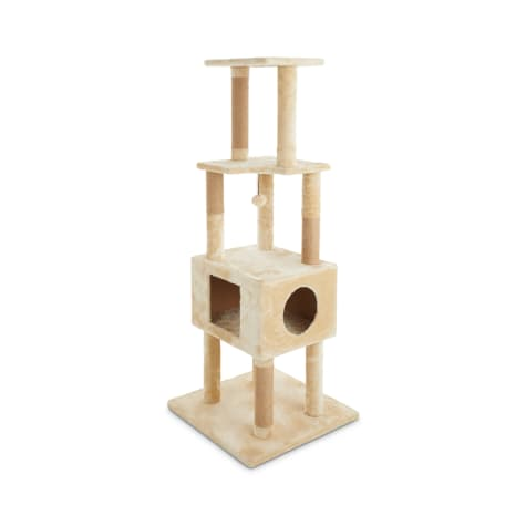 Animaze 4-Level Tan Cat Tree with Condo