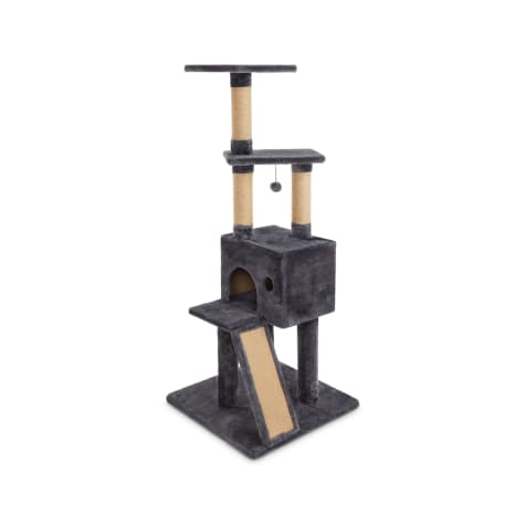 Animaze 4-Level Grey Cat Tree with Scratch Ramp