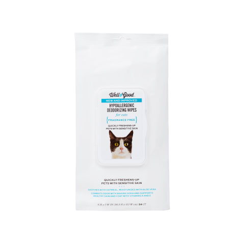 Well & Good Hypoallergenic Deodorizing Cat Wipes