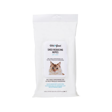 Well & Good Shed Reducing Cat Wipes