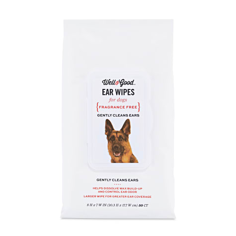 Well & Good Large Dog Ear Wipes
