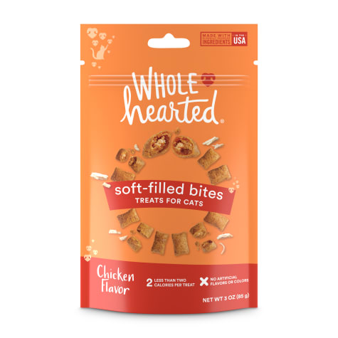 WholeHearted Soft Center Crunchy Chicken Flavor Treats for Cats