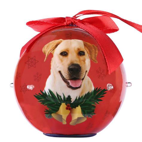 CueCuePet Labrador Dog Collection Twinkling Lights Christmas Ball Ornament