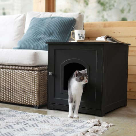 Zoovilla Black Kitty Litter Loo