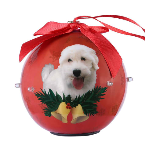 CueCuePet Westie Dog Collection Twinkling Lights Christmas Ball Ornament