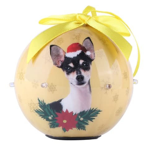 CueCuePet Chihuahua Dog Collection Twinkling Lights Christmas Ball Ornament