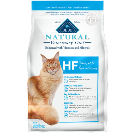 Blue Buffalo Blue Natural Veterinary Diet HF Hydrolyzed for Food Intolerance Dry Cat Food