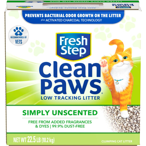 Fresh Step Clean Paws Simply Unscented Clumping Cat Litter