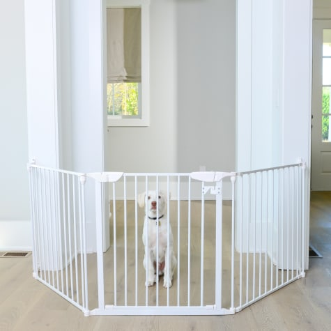 Cardinal Gates Extra Wide Expandable White Pet Gate