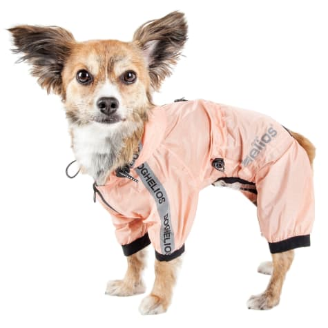 Dog Helios Torrential Shield Waterproof Multi-Adjustable Peach Dog Windbreaker Raincoat