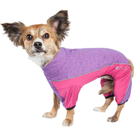 Pet Life Active Chase Pacer Heathered Performance Pink Dog Sweaters