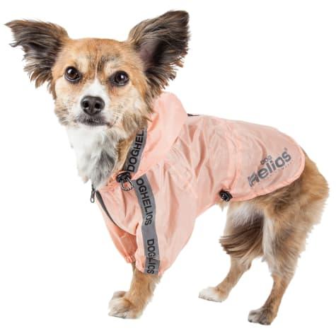 Dog Helios Torrential Shield Waterproof Adjustable Peach Dog Windbreaker Raincoat