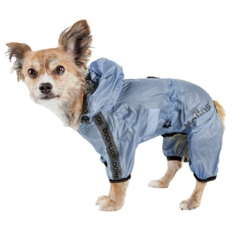 Dog Helios Torrential Shield Waterproof Multi-Adjustable Blue Dog Windbreaker Raincoat
