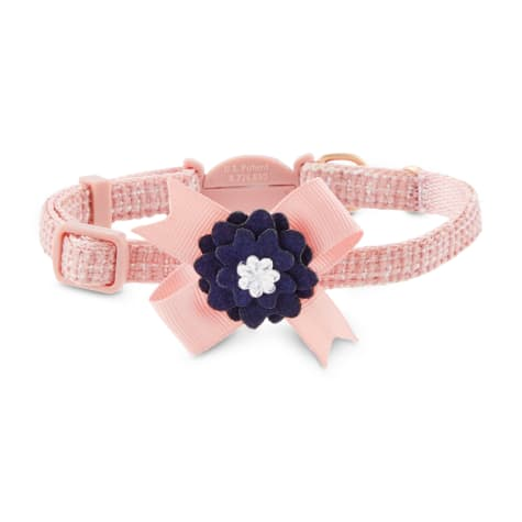 Modern Luxe Collection Pink Tweed Cat Collar