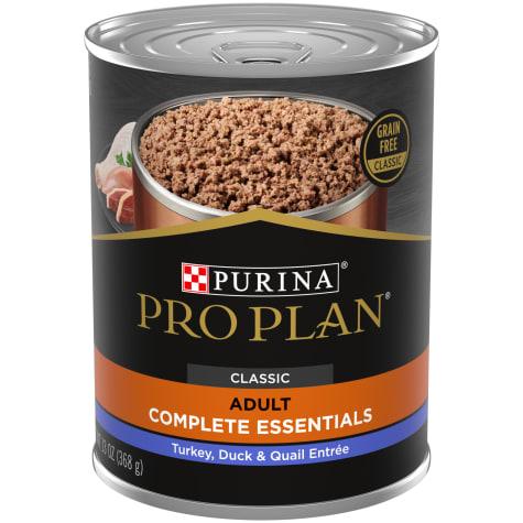 Purina Pro Plan Grain Free, High Protein Savor Classic Turkey, Duck & Quail Entree Wet Dog Food