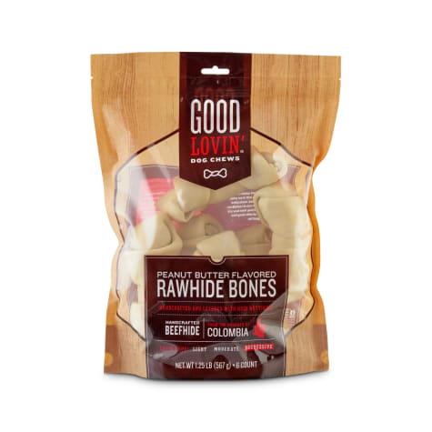 Good Lovin' Peanut Butter Flavored Rawhide Bone Dog Chews