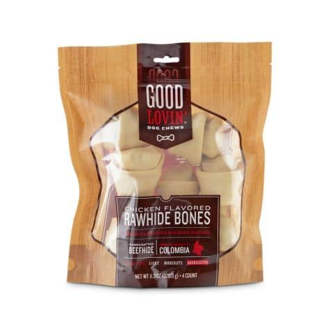 Good Lovin' Chicken Flavored Rawhide Bone Dog Chews