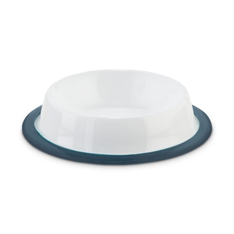 Harmony Foodies Skid-Resistant Enameled Stainless Steel Dog Bowl