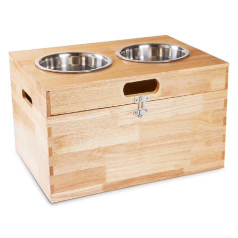 Harmony Elevated Double Diner with Storage for Dogs