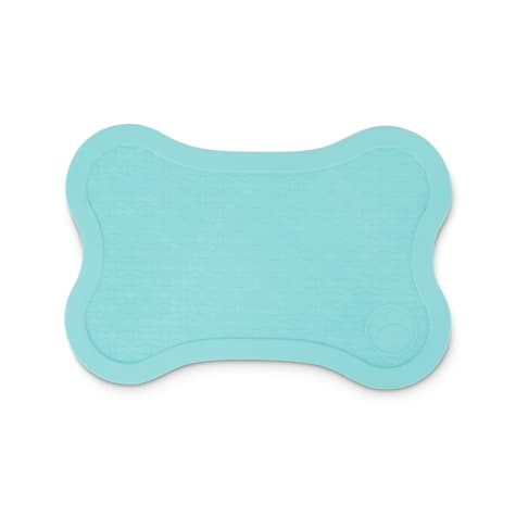 Harmony Teal Bone Textured Rubber Placemat for Dogs