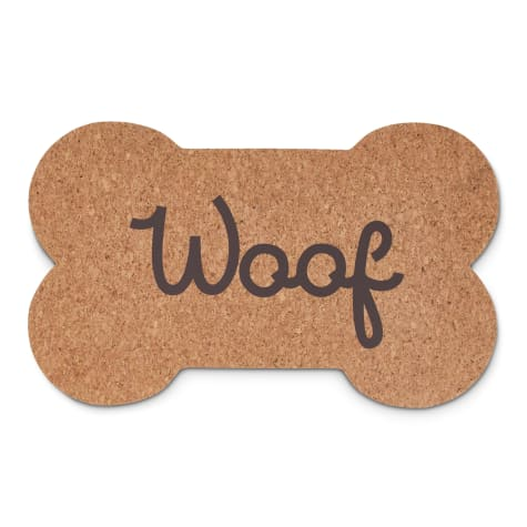 Harmony Woof Bone Cork Placemat for Dogs