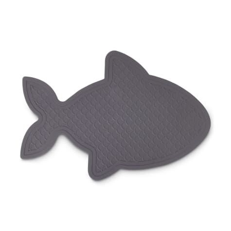 Harmony Fish-Shaped Rubber Grey Placemat for Cats