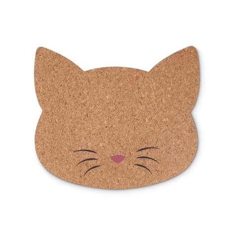 Harmony Cat-Shaped Cork Placemat for Cats