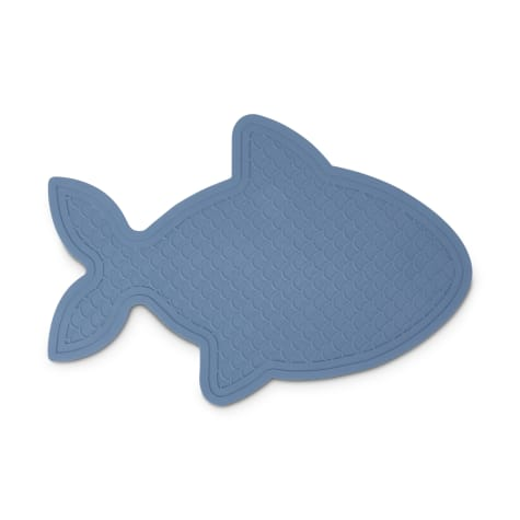 Harmony Fish-Shaped Rubber Blue Placemat for Cats