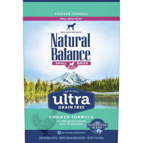 Natural Balance Original Ultra Grain Free Small Breed Bites Chicken Dry Dog Food