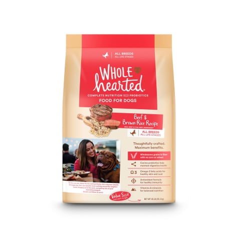 WholeHearted All Life Stages Beef and Brown Rice Recipe Dry Dog Food