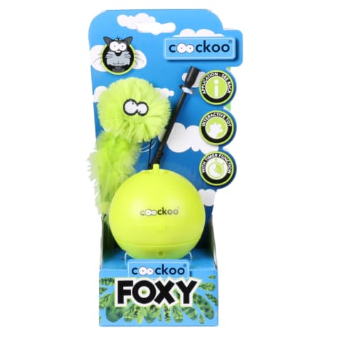 Petpals Group Lime Coockoo Foxy Toy for Pets