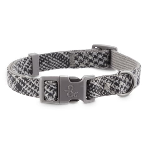 Bond & Co. Grey Houndstooth Dog Collar