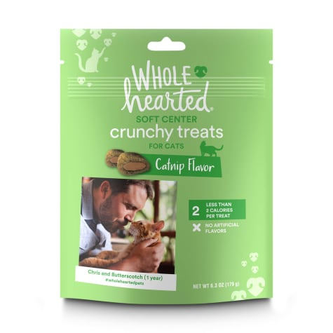 WholeHearted Soft Center Crunchy Catnip Flavor Cat Treats