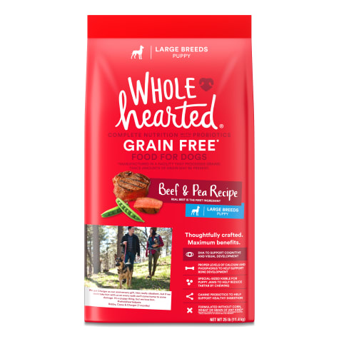 WholeHearted Large Breed Beef & Pea Recipe Dry Puppy Food