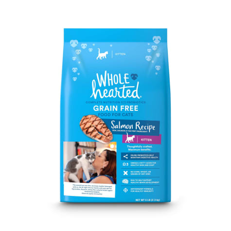 WholeHearted Grain-Free Salmon Formula Dry Kitten Food