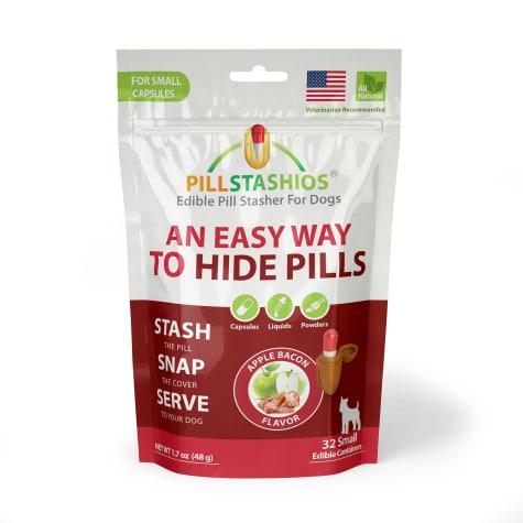PillStashios Small Apple Bacon Treats for Dogs