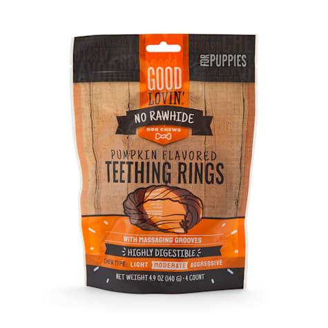 Good Lovin' No Rawhide Pumpkin Flavored Puppy Teething Rings