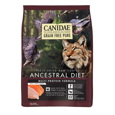 CANIDAE Grain Free PURE Ancestral Diet Turkey & Salmon Dry Cat Food