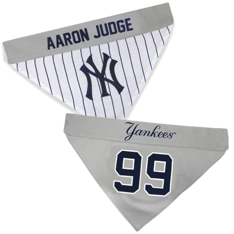 Pets First New York Yankees Aaron Judge Reversible Bandana for Dog