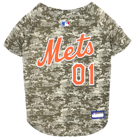 Pets First New York Mets Camo Dog Jersey