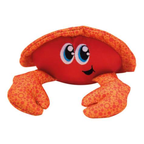 Outward Hound Floatiez Orange Crab Dog Toy