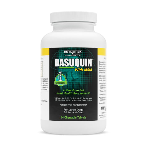 DASUQUIN MSM Chewable Tablets For Large Dogs 60 lbs. +