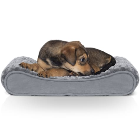 FurHaven Ultra Plush Luxe Lounger Orthopedic Dog Bed Gray