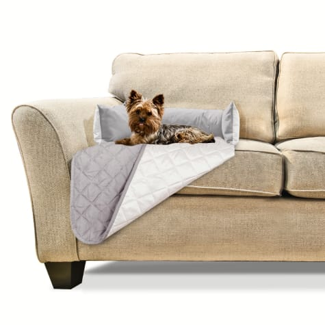FurHaven Sofa Buddy Furniture Cover Dog Bed Gray