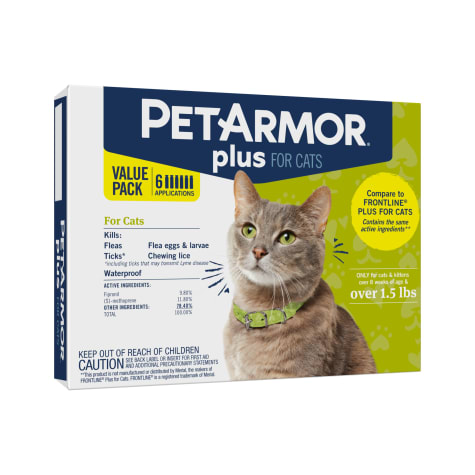 Petarmor F T Cat Squeeze On Over 1 5 Lbs Count Of 6 Petco