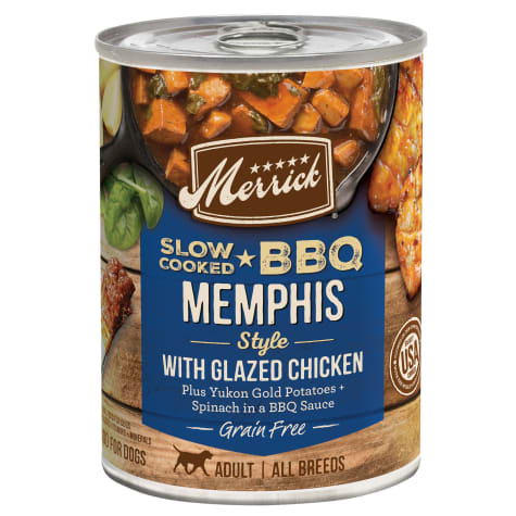 Merrick Grain Free Slow-Cooked BBQ Memphis Style with Glazed Chicken Wet Dog Food