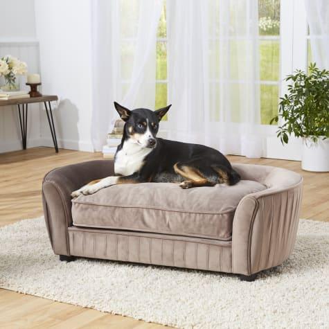 Enchanted Home Pet Tucker Brown Sofa