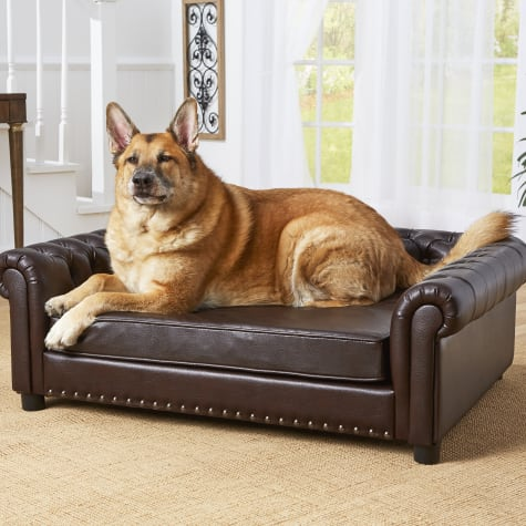 Enchanted Home Pet Harrison Brown Sofa