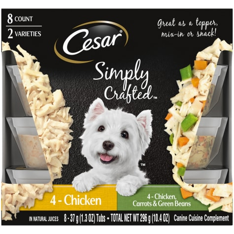 Cesar Simply Crafted Canine Cuisine Complement Chicken, Carrot & Green Bean Variety Pack Adult Wet Dog Food